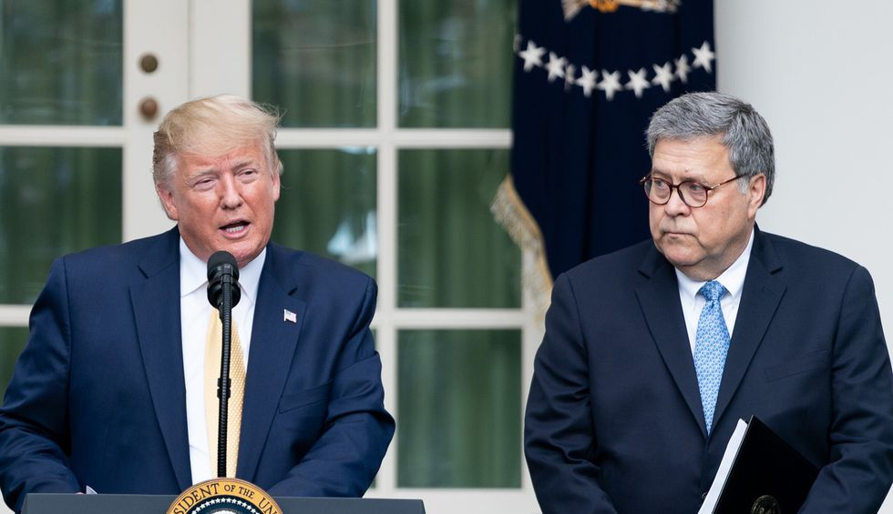 Legal experts are freaking out over Barr's actions to help Trump win: 'The attorney general is a threat'