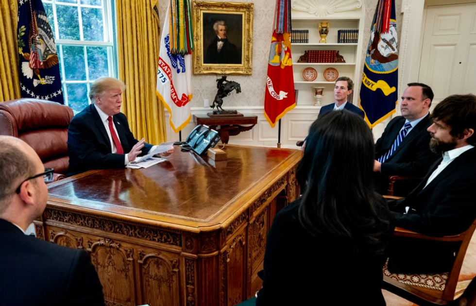 Trump reportedly used an Oval Office meeting with the Twitter CEO to whine about his follower count