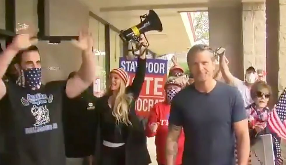 Fox & Friends celebrates crowd protesting shutdown as NJ gym opens against state orders