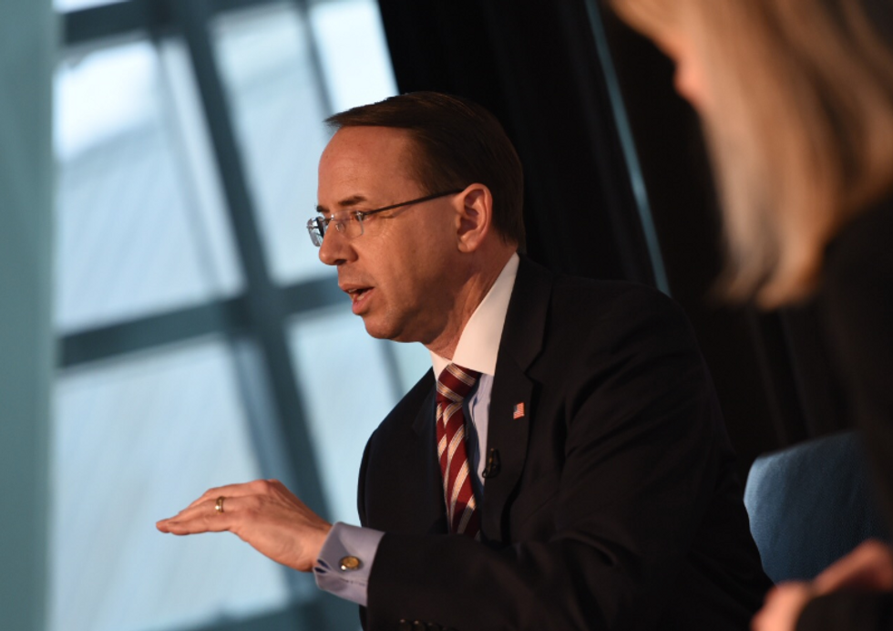 Rod Rosenstein goes completely off the rails into Trumpland