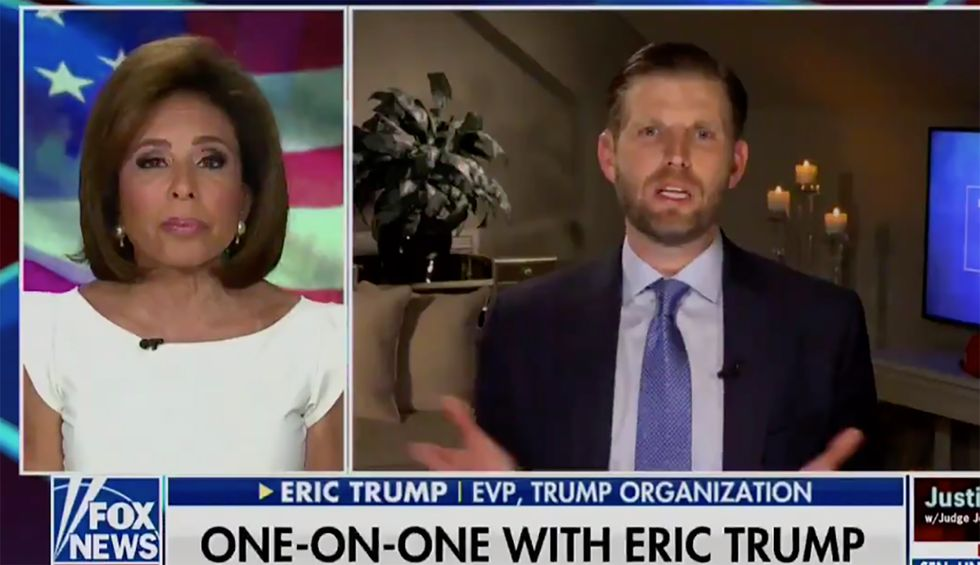 Eric Trump predicts COVID-19 is a conspiracy against his dad that will 'magically' disappear in November