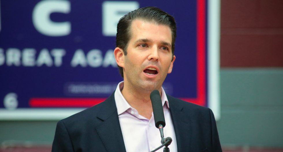 Trump Jr.'s event is so 'sparsely attended' that people were asked to huddle around stage: reporter