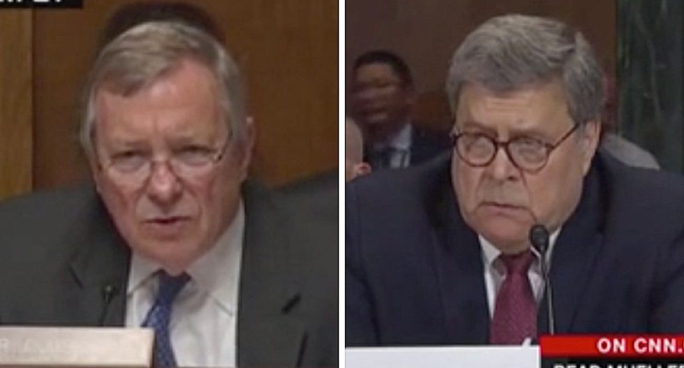 'Freudian slip': Barr makes it clear during Senate testimony that he's working for Trump — not the American people