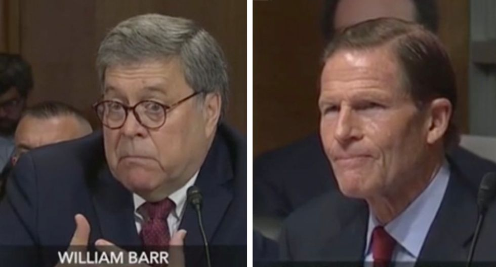 'You don't recall?': Barr can't say whether he's spoken with White House about Mueller's DOJ referrals — but emphatically refuses to recuse himself from them