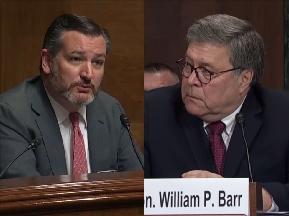The most hilarious moment of Bill Barr's testimony: Ted Cruz accidentally disproved the right-wing conspiracies about the Russia probe