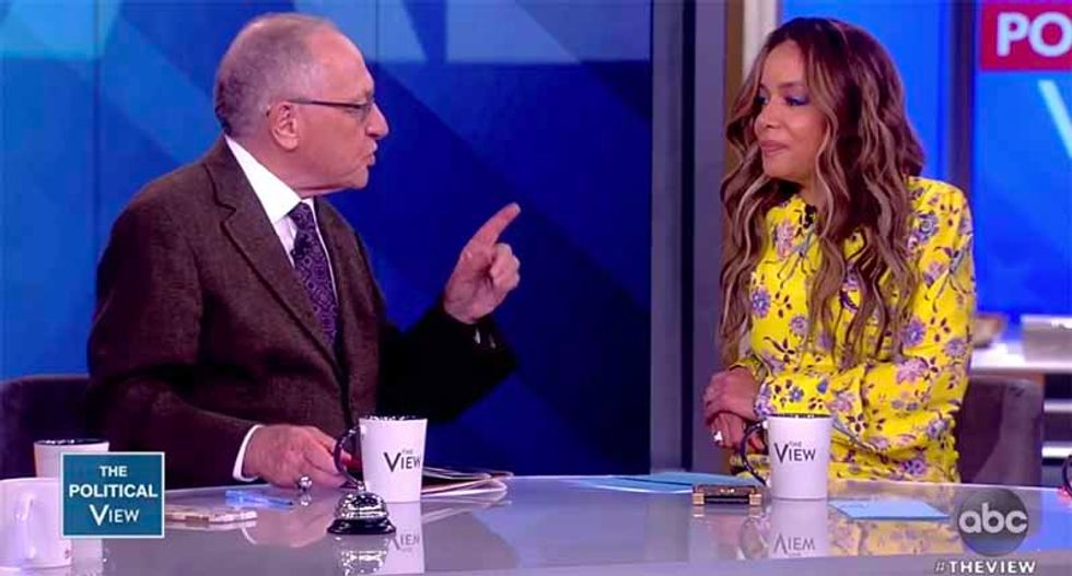 The View's Sunny Hostin repeatedly hits Alan Dershowitz in tense exchange on Mueller: I ask 'the questions here, professor'