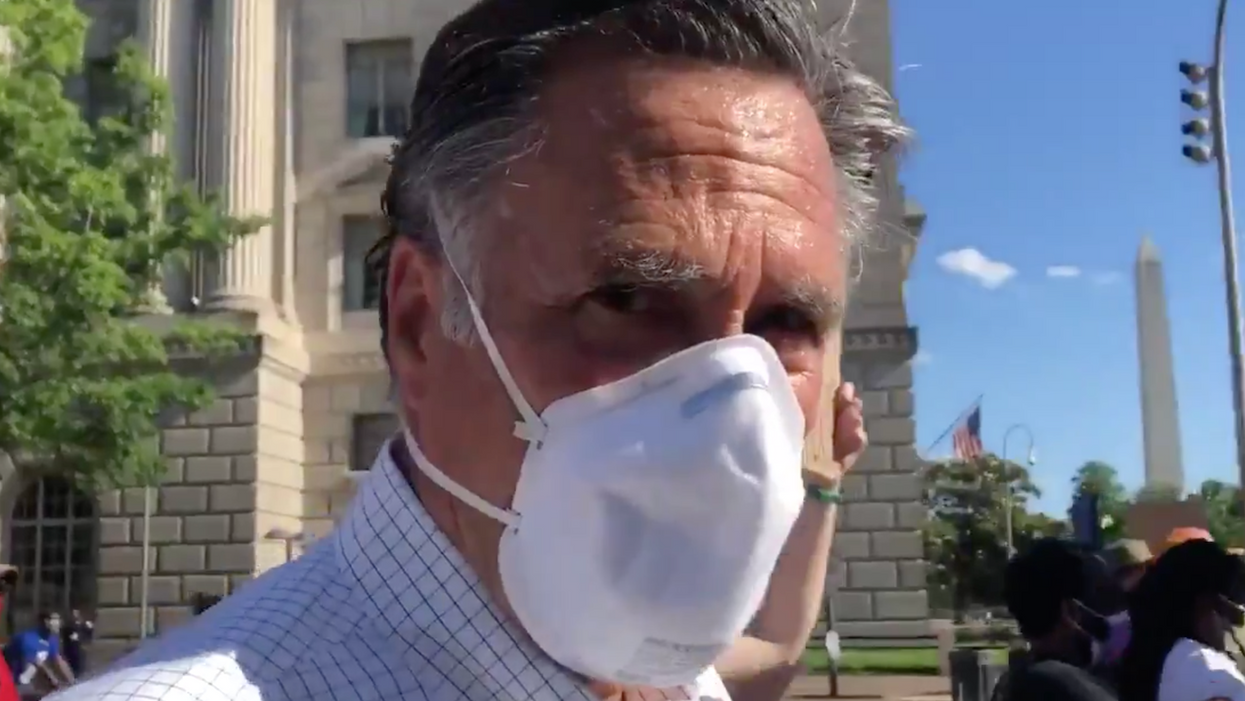 Watch: Mitt Romney confronted by crazed Trump supporters on plane to Washington