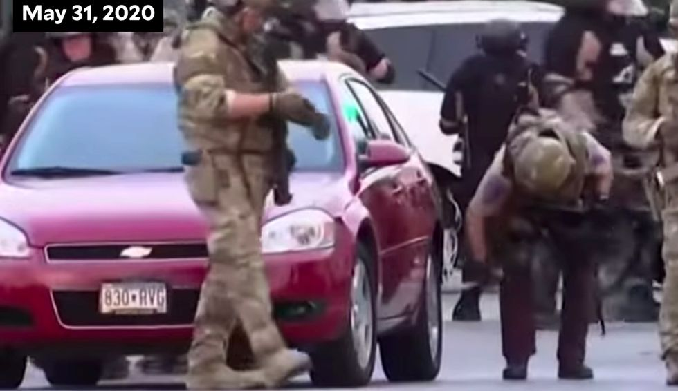 Video of state troopers slashing and puncturing protesters and reporters' cars tires goes viral