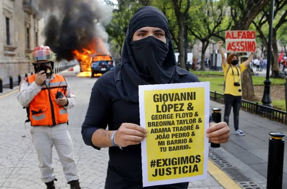 Police arrested in Mexico after riots over man's death