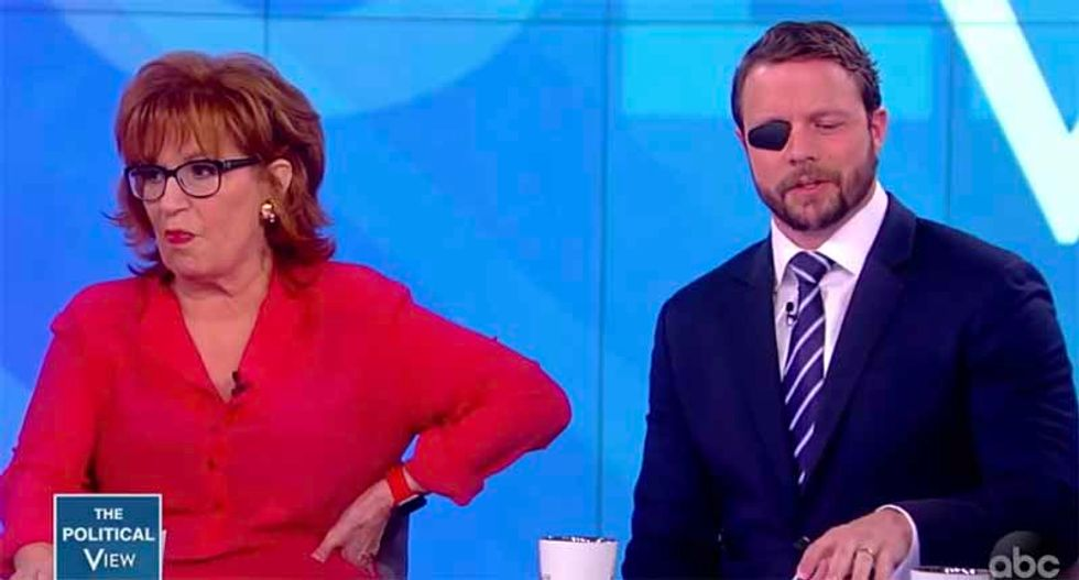 Rep. Dan Crenshaw gets cornered on The View for offering 'ridiculous' excuse on Trump's Charlottesville response: 'Why do you apologize for him?'