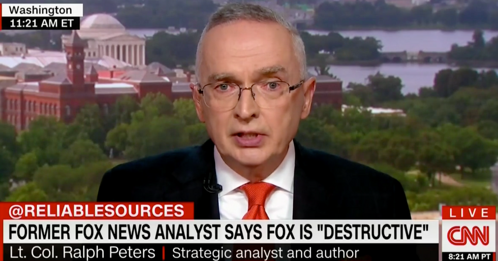 Ex-Fox News Analyst Lt. Col. Ralph Peters Shreds Former Colleagues: 'Prostitutes' And 'Henchmen' for Trump