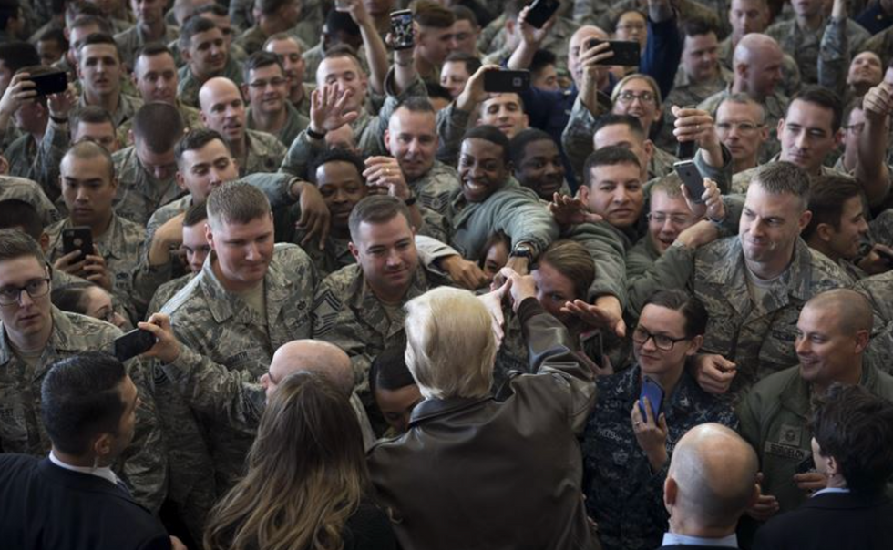 Trump used troops as political props. When will those who claim to revere soldiers hold him accountable?