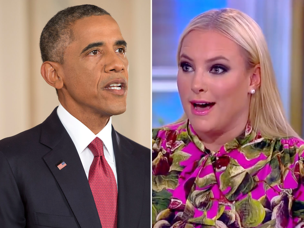 The View's Meghan McCain melts down in rant about Barack Obama   -  and Whoopi Goldberg calls 'BS'