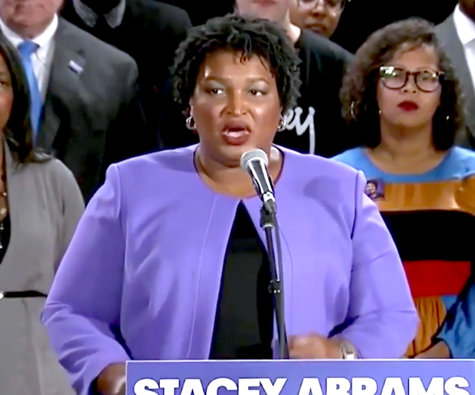 Stacey Abrams just ended her campaign  -  but torched her opponent's corrupt election in a fiery speech