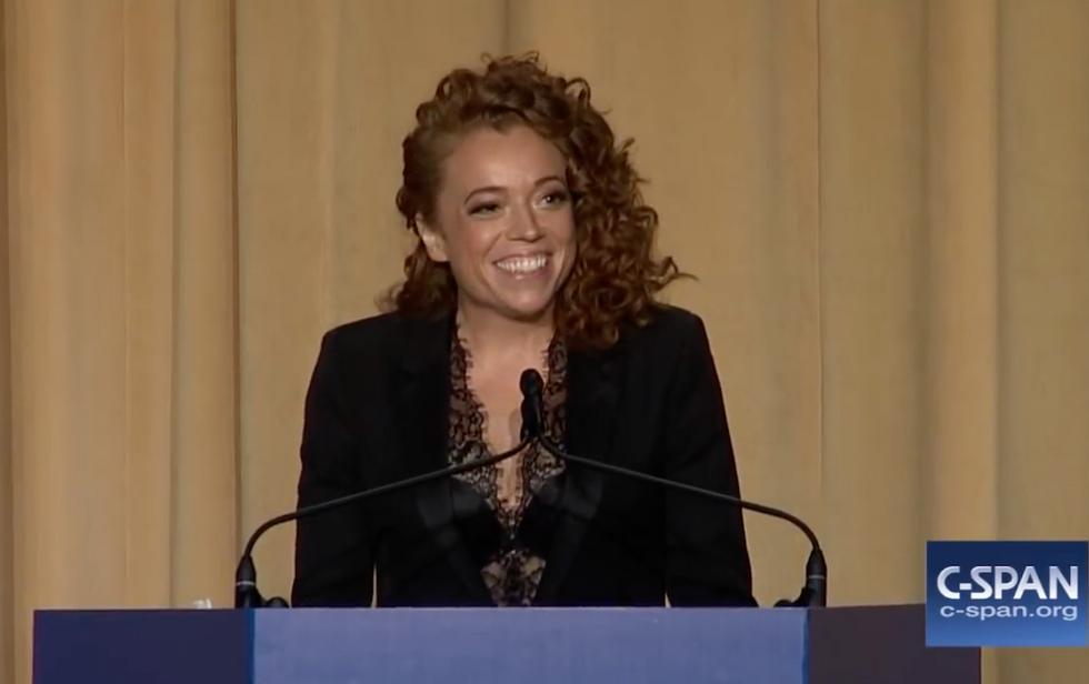 Comedian Michelle Wolf delivers searing takedown of Donald Trump after he attacks her on Twitter