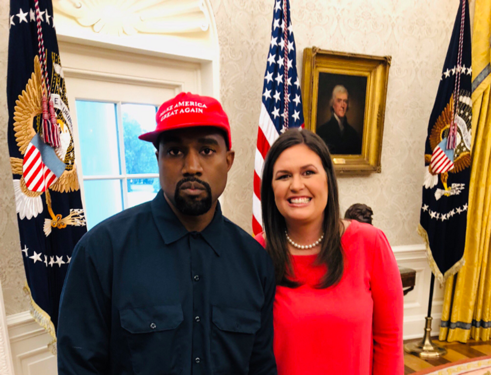 Ethics Watchdog Accuses Sarah Sanders of Violating the Hatch Act with Kanye West