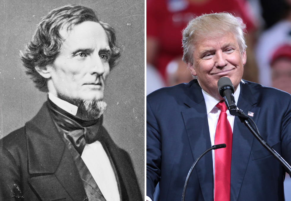 Slow motion civil war: Here's how Donald Trump is the Jefferson Davis of a new red state confederacy
