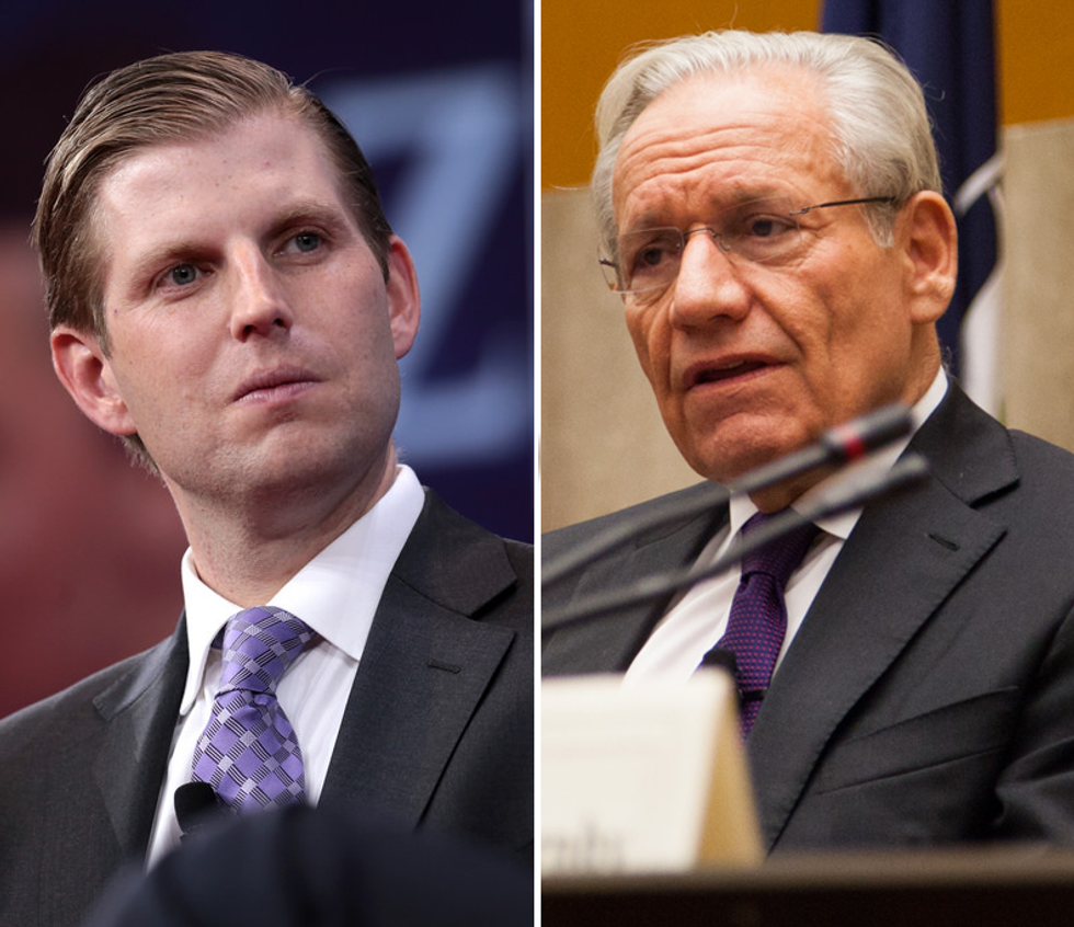 Internet Pounds 'All-Around Ugly Human' Eric Trump Over 'Anti-Semitic' Attack on Bob Woodward