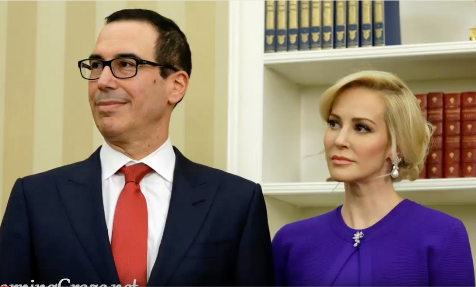 Trump Rattles His Saber at the Caravan While His Treasury Secretary Splashes $1.3338 Trillion in Debt
