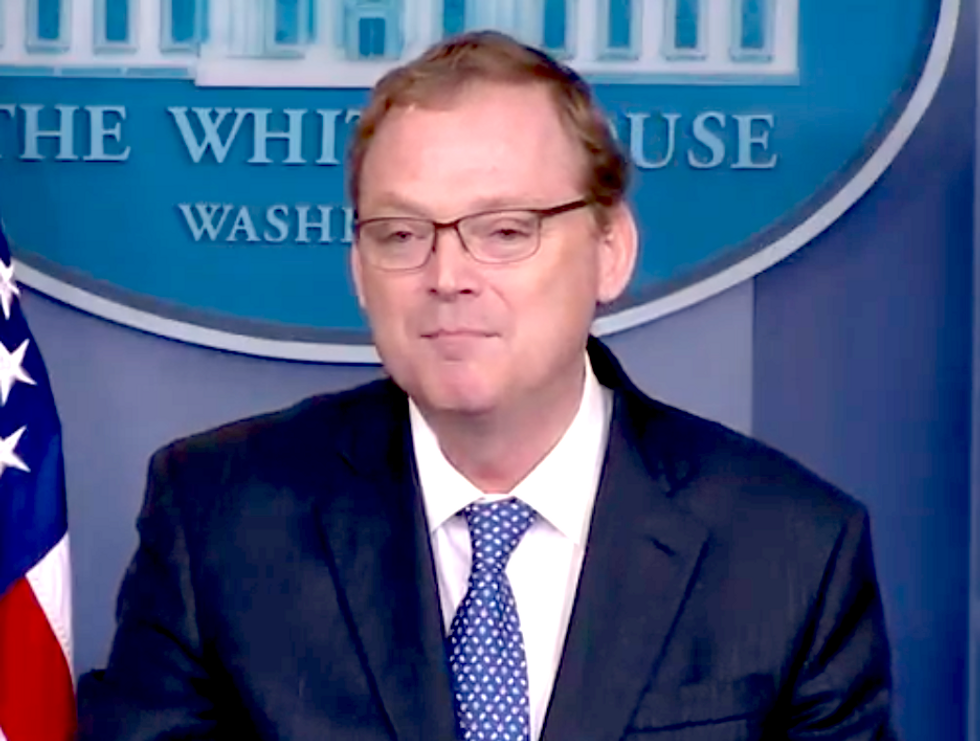 Trump's Top Economic Aide Tries to Blast Obama's Policies  -  But He Ends Up Correcting the President's Lie