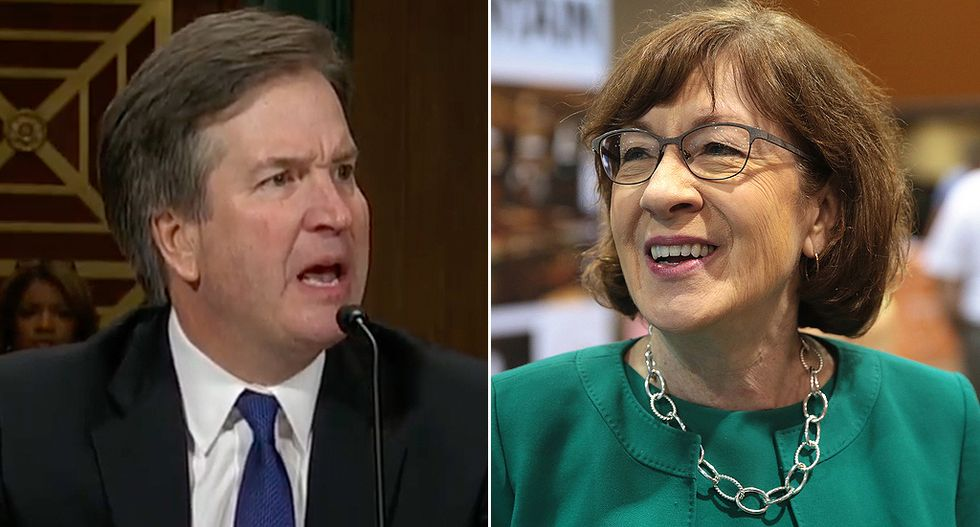 Conservative columnist and Democrats alike are slamming Susan Collins for being dead wrong on Brett Kavanaugh's abortion views: 'Told you so'