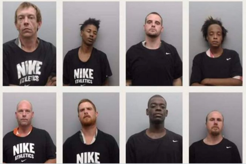 'Disgusting': Arkansas Sheriff's Office Forcing Inmates to Wear Nike Shirts In Mugshots to Mock Colin Kaepernick