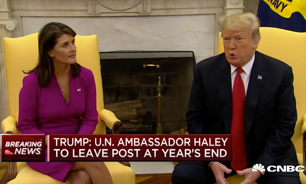 Nikki Haley Makes Her Departure Official as Trump Praises Her for Making the Role of UN Ambassador 'Glamorous'