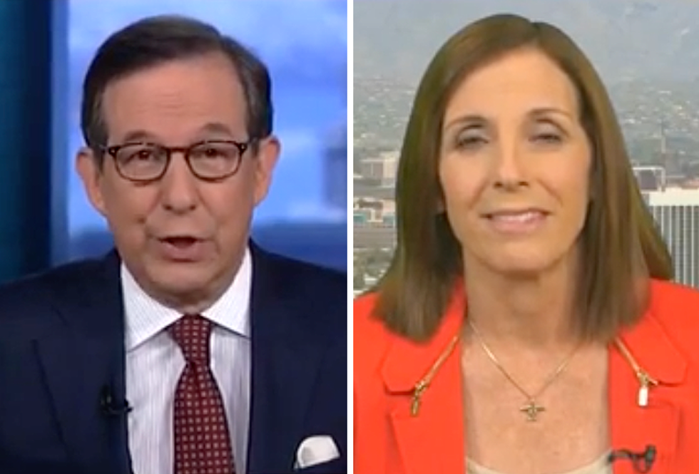 Fox News' Chris Wallace Corners GOP's Martha McSally on Pre-Existing Conditions  -  So She Calls Him a Liar