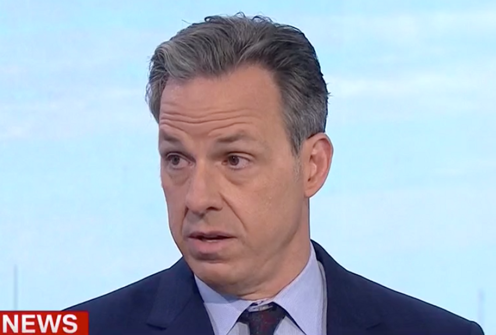 He 'Clearly Feels Threatened': CNN's Jake Tapper Literally Laughs After Trump's Delusional Press Conference