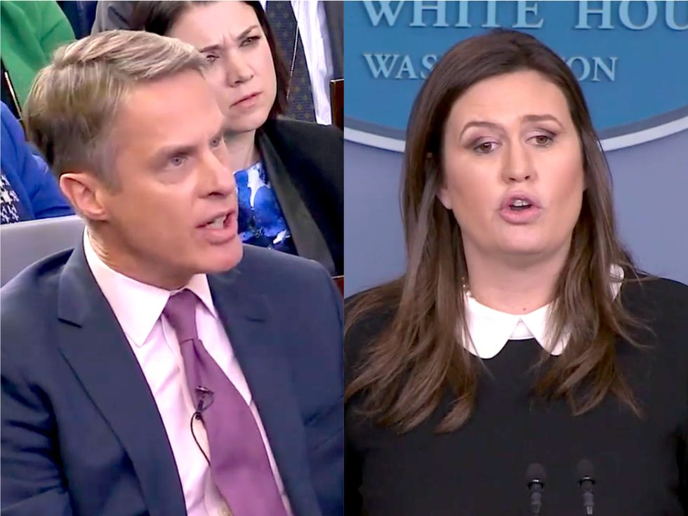 'Have you done the math on that?' Reporters debunk Sarah Sanders' embarrassing claim that Mexico will pay for the wall