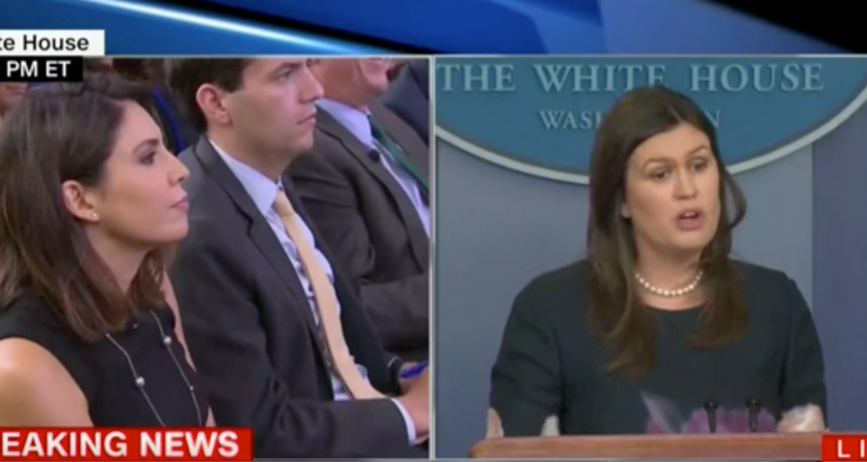 Watch: Sarah Sanders Offers Stunning Lies to Attack Kavanaugh Accusers  -  And Democrats