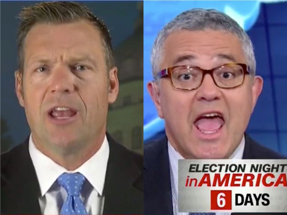 'That's an Outrageous Accusation!': CNN's Jeffrey Toobin Calls Out Kris Kobach's Racist Voter Suppression Efforts to His Face