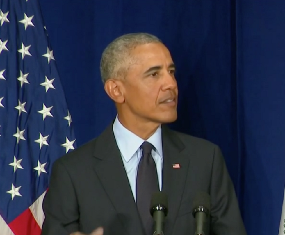 Obama Comes Out Swinging Against Trump and the GOP for 'Cozying Up' to Putin and Pressuring the FBI