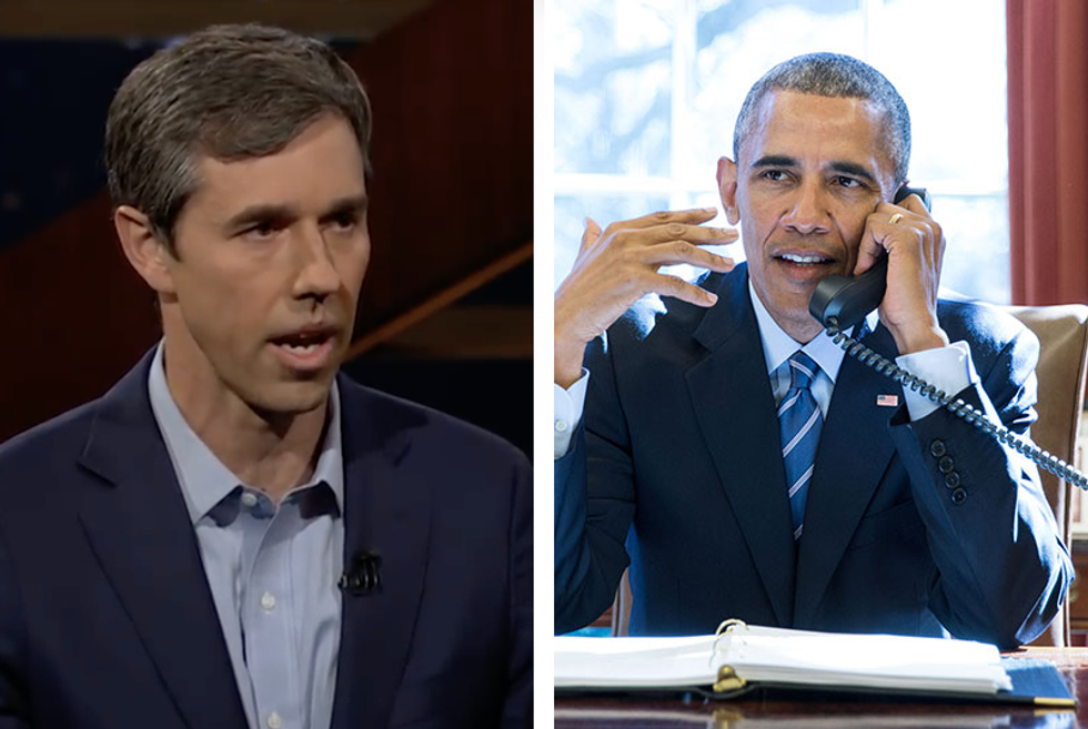 Obama praises Beto as 'an impressive young man who ran a terrific'  -  and compares O'Rourke to himself