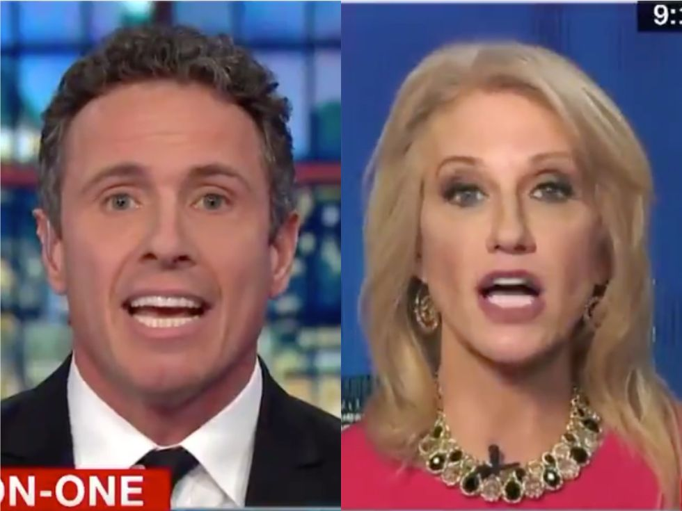 'You're gonna call me a liar!?' Kellyanne Conway's CNN fiery interview goes off the rails as Chris Cuomo exposes Trump's lies