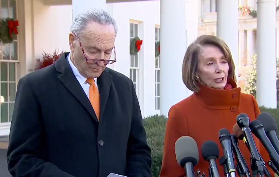 'It was glorious': Internet cheers Pelosi and Schumer for standing their ground against Trump's 'petulant tantrum'