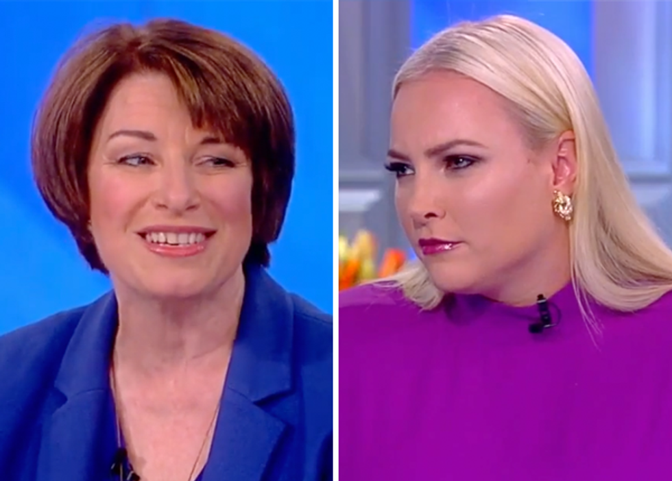 The View's Meghan McCain Gets Promptly Shut Down After Asking Sen. Amy Klobuchar If Dems 'Misplayed their Hand' with Dr. Ford