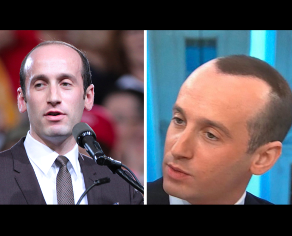 'Soulless vampire' Stephen Miller mocked for sporting 'spray-on-hair' during Sunday talk shows: 'The coverup is worse than the crime'