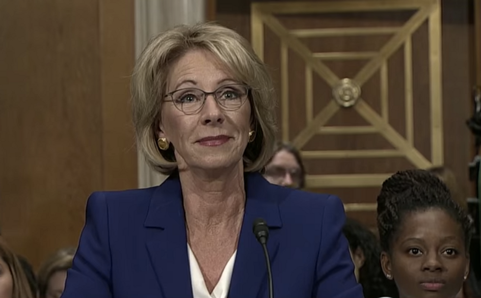 Here's How Betsy DeVos Reportedly Wants to Redefine Sexual Misconduct on College Campuses