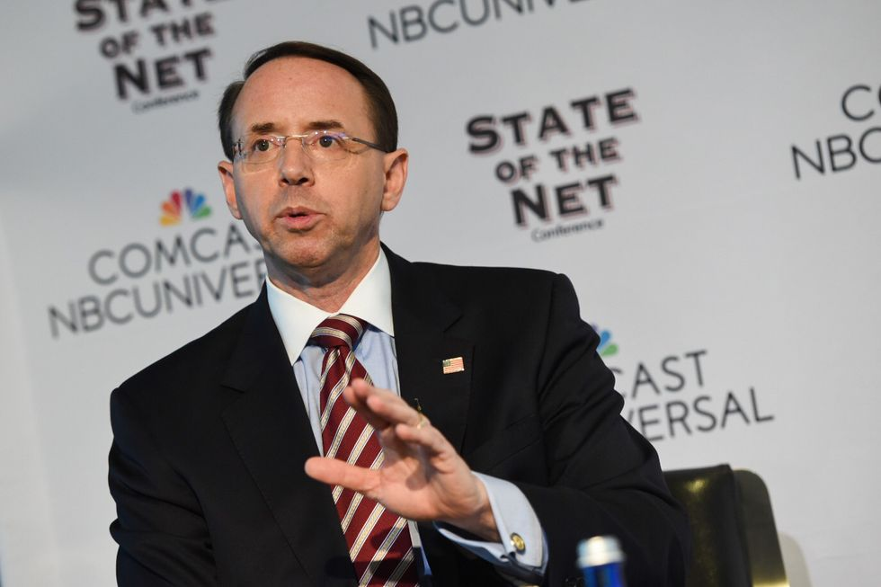 Trump just offered a revolting defense of the claim that Rod Rosenstein 'belongs behind bars'  -  demonstrating his authoritarian instincts