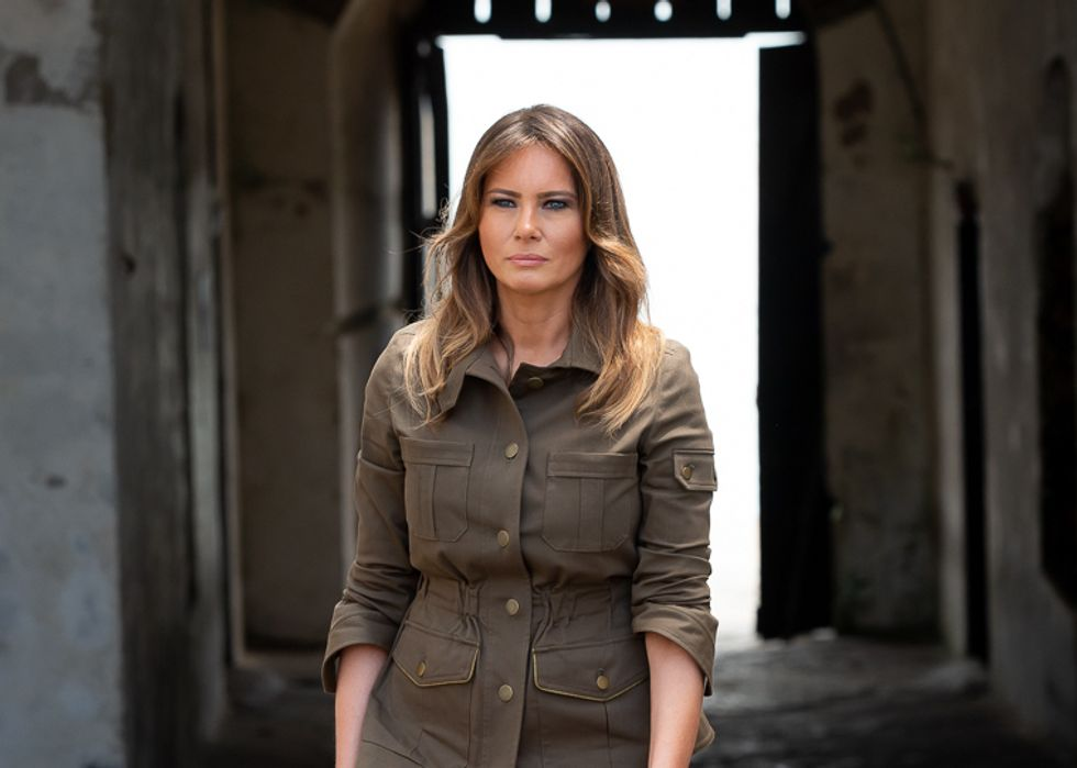 Melania Trump Spokeswoman Calls for Boycott After Rapper's Video Depicts a First Lady Lookalike Stripping in the Oval Office