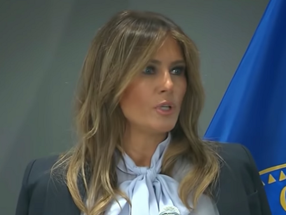 Melania Trump Tells Author of NYT Op-Ed to Publicly Name Themselves and Praises 'Freedom of Speech'