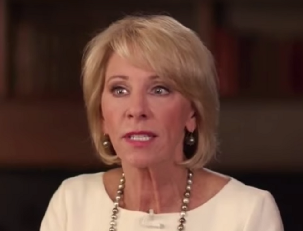 Betsy DeVos Is Planning to Allow Schools to Use Federal Funds to Buy Guns