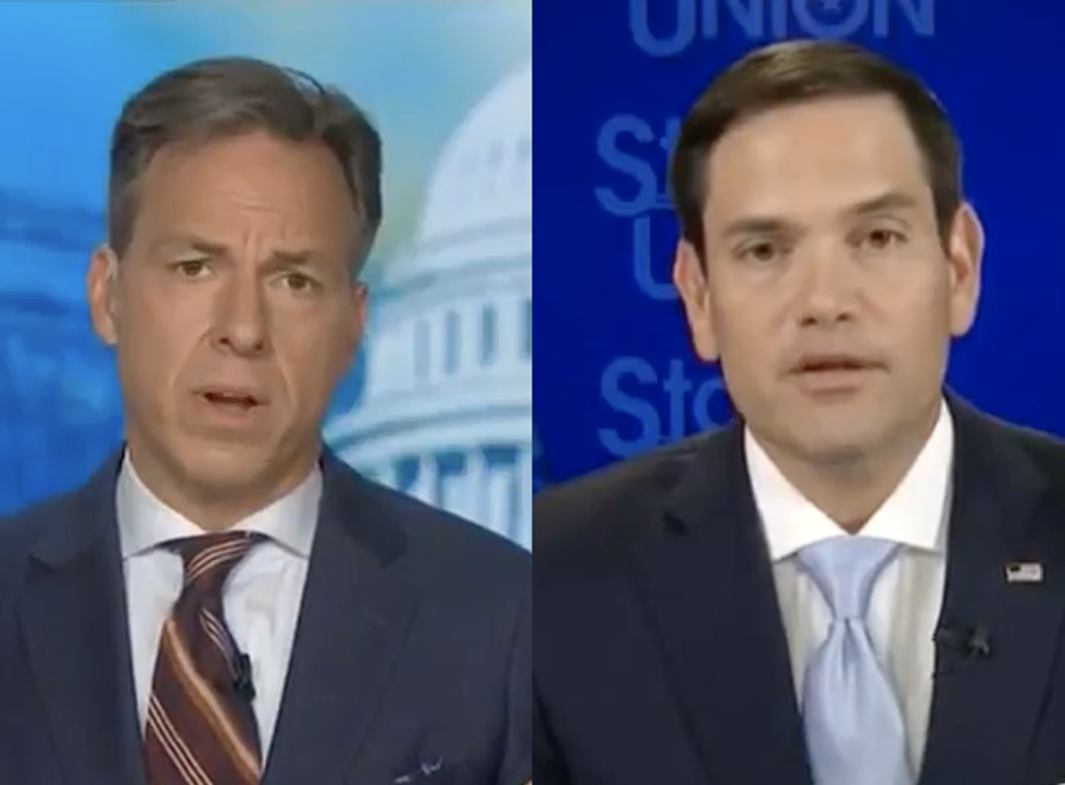 CNN's Jake Tapper Confronts Climate Change Skeptic Marco Rubio: What Will You Tell 'Your Children And My Children?'