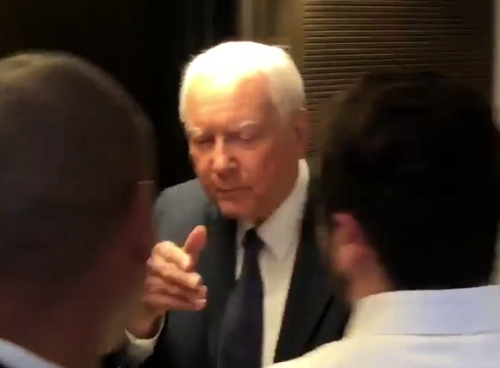 'Grow Up!': Watch This Top GOP Senator Shoo Away Women Protesters Begging Him to Listen as They Get Threatened with Arrest
