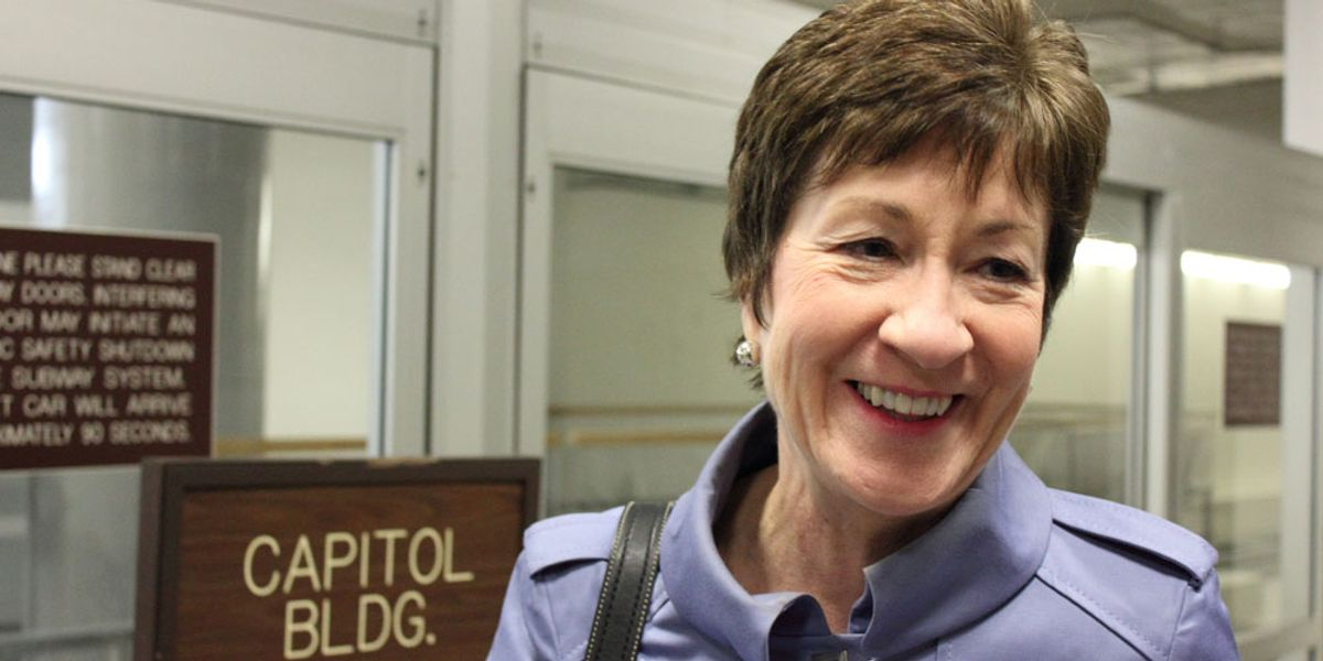 Susan Collins suggests going easy on Trump — even after lashing out at Chuck Schumer