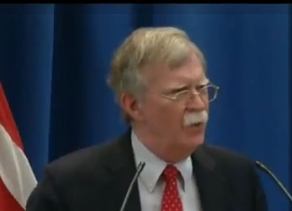 Watch John Bolton Abruptly End a Press Conference After BBC Reporter Asks Him If Trump Is a 'Security Risk'