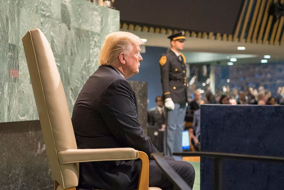 The Renegade President Brings His War to the United Nations