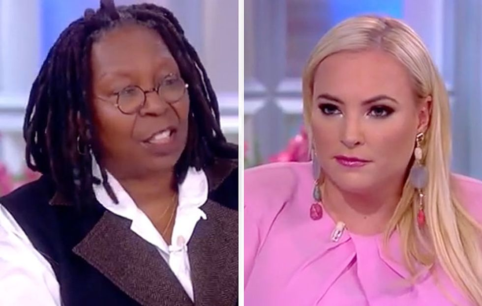 'Stop, Meghan': The View's Whoopi Goldberg Cuts Off McCain During Outburst Over CNN's Jim Acosta
