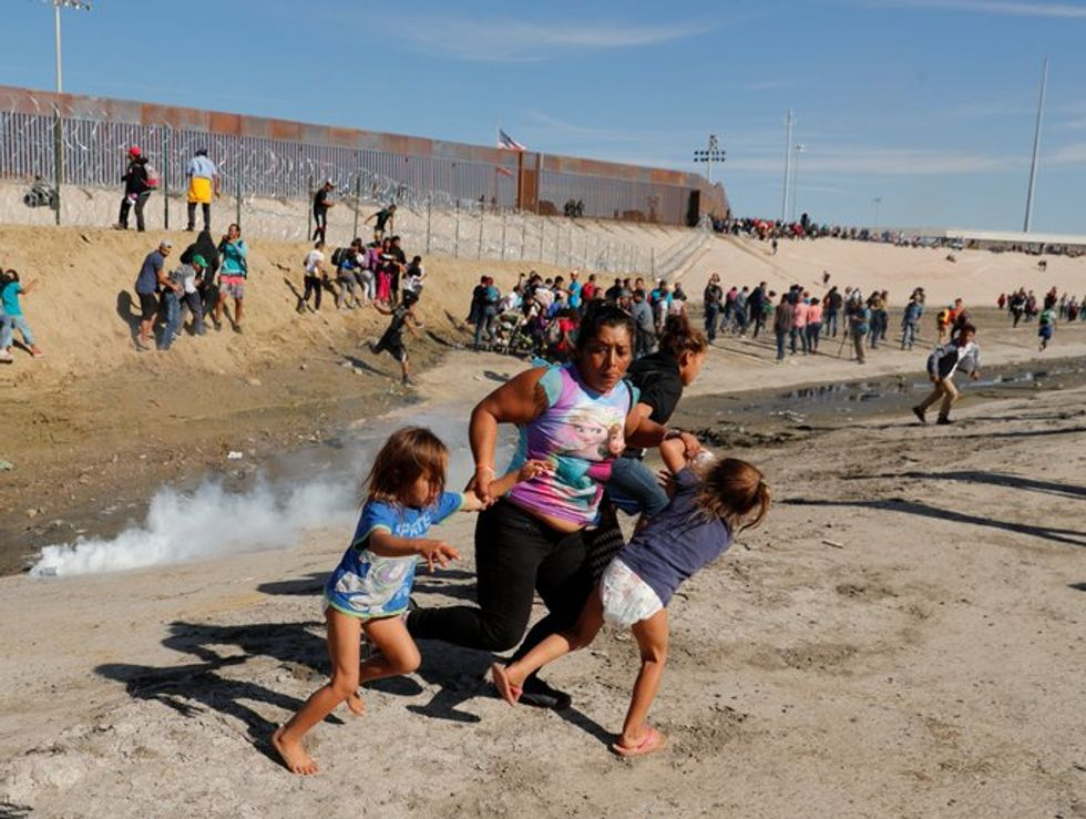 Children 'screaming and coughing in the mayhem' as Trump border patrol fires tear gas into Mexico